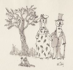 Formal Portrait, original illustration by William Steig available at the R. MICHELSON GALLERIES or at rmichelson.com