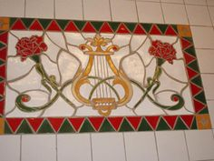 tiled lyre! so beautiful