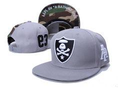 A BATHING APE Snapback Hats Aape Hats New Era Caps Gray、Camo 024 A Bathing 43e1ba8d609c