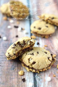 Chocolate Dipped S'mores Cookies | The perfect summer treat without the campfire!