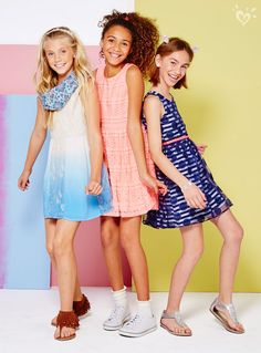 Whatever your dress style, we have the perfect fit for you! - Dresses for Teens Girls Dresses Tween, Cute Girl Dresses, Dresses For Teens, Girls Sports Clothes, Girls Fashion Clothes, Dope Outfits, Kids Outfits, Cute Fashion, Kids Fashion