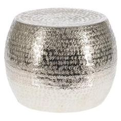 ALUMINIUM STOOL IN NICKLE PLATED FINISH 24X31