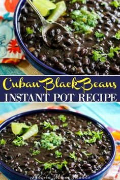 Instant Pot Cuban Black Beans - Easy and flavorful, these authentic Cuban black beans are made in the Instant Pot using just a few - Carnitas, Barbacoa, Instant Recipes, Instant Pot Dinner Recipes, Tostadas, Plats Latinos, Chorizo, Enchiladas, Crockpot Recipes