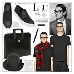 """""""Charming Chap"""" by luisaviaroma ❤ liked on Polyvore featuring Alexander McQueen, Thom Browne, REINHARD PLANK, Comme des Garçons and Montblanc"""