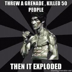 Dont mess with Bruce!