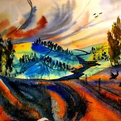 #colorful #colorfultoscany #toscany #auenland #rainbowart #rainbowlove #rivervalley #watercolor #watercolors #watercolour #watercolours #artwork #hobbyartist Rainbow Art, Watercolours, Colorful, River, Artist, Artwork, Instagram, Work Of Art, Auguste Rodin Artwork