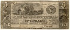 Obsolete bank note & private scrip issued by State ~ Maine