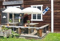 Kesäkahvila Piika ja Renki, Elimäki, Suomi Finland.