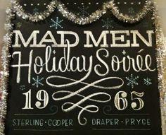 Mad Men Chalkboard Typography