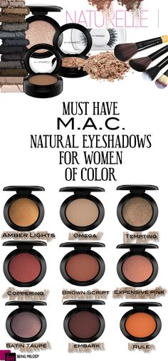 Nine Must Have M.A.C Neutral Eyeshadows for Women of Color | http://www.beingmelody.com