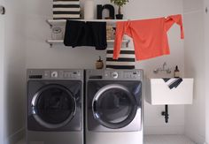 {AFTER} Laundry Room - love the clothesline