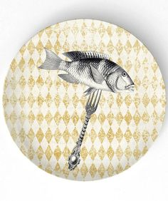 Eat Fish - 10 inch Melamine Plate