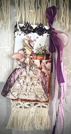 "Tag Art ~ ""Violetta"" A Fancy Tag by Christine LeFever"