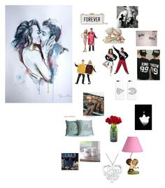 """Couple Goals"" by baconkk ❤ liked on Polyvore featuring Precious Moments, Kate Spade, Cathy's Concepts and Alison & Ivy"
