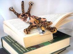 Splat Leopard Needle Felted Book Mark