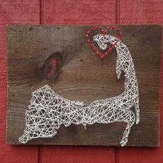 Cape Cod String Art - Can Be Customized - Nail Art - Wall Art - Home Decor - Massachusetts - Wooden Sign - Handmade - Handcrafted