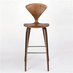 Cherner Chair Wood Base Stool - Bar, Moderb Bar Stools - Modern Counter Stools - Kitchen Bar Stools   SwitchModern
