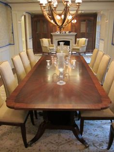 Bausman 2388 Dining Table, with Hickory Chair Chelsea Chairs