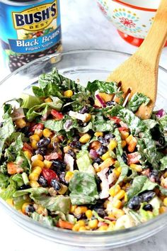 Black Bean Taco Salad Recipe - lighter version of the classic taco salad. Packed with vegetables and Black Bean Taco Salad Recipe – lighter version of the classic taco salad. Packed with vegetables Black Bean Taco Salad Recipe, Taco Salad Recipes, Healthy Salad Recipes, Taco Salads, Recipe For Tacos, Protein For Salads, Recipe For Black Beans, Protein Salad, Taco Recipe