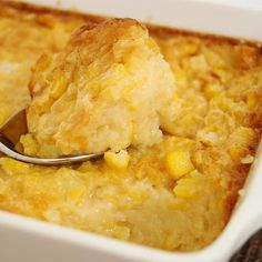 Holiday Baked Corn Pudding This recipe was passed down to my mother from my grandmother(Nanny) who p Thanksgiving Recipes, Holiday Recipes, Holiday Foods, Corn Pudding Recipes, Cornbread Pudding, Pudding Corn, Sweet Corn Bread Pudding Recipe, Cornbread Souffle Recipe, Gluten Free Corn Pudding Recipe