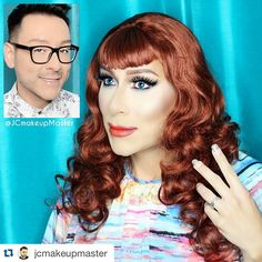 "#Repost @jcmakeupmaster with @repostapp. ・・・ Transformation Tuesday!! Did this transformation on Celebrity Makeup artist Mathias a couple of months ago. We filmed the whole thing along with a couple of interviews for his youtube channel. Cant wait to see the vids! We had a lot of fun chatting and laughing all evening! Also, congrats to him on his newest adventure with the TV show ""Dare to Wear"""