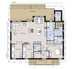 Lappli-Talot - Ajatuksista koti - Talomallit Future House, Beach House, House Plans, Floor Plans, Cottage, Exterior, House Design, Flooring, How To Plan