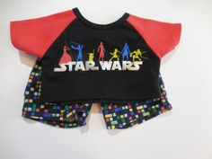 Build A Bear Boy 2 Pc Star Wars PJs Shirt & Shorts Yoda Luke Pictured #AllOccasion