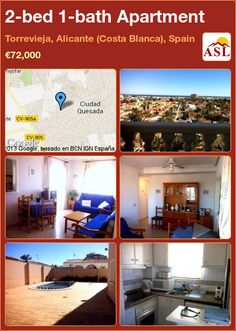 2-bed 1-bath Apartment in Torrevieja, Alicante (Costa Blanca), Spain ►€72,000 #PropertyForSaleInSpain