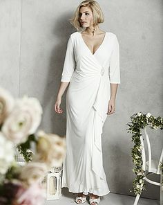 Wrap Front Wedding Dress | Simply Be