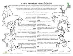 Spirit Animal Meanings | ... http://www.education.com/worksheet/article/native-american-animal-g
