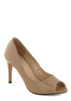 Sass in Your Step Heel in Beige, #ModCloth $35, needs to get back in stock!