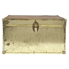 Jayson Home Vintage Trunk (€315) ❤ liked on Polyvore featuring home, home decor, small item storage, vintage home decor, brass home decor, vintage home accessories, vintage trunk and jayson home