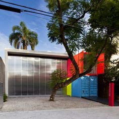 I like the idea of opening the wall & having an open area! Shipping Container House in Sao Paulo, Brazil by Marcio Kogan Up House, House Made, Studio Mk27, Shipping Container Homes, Shipping Containers, Shipping Crates, Container Design, Container Houses, Cargo Container