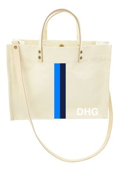Classic Tote Crossbody - Racer Stripe French Blue and Navy from Parker Thatch