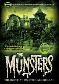 Welcome to 1313 Mockingbird Lane, home to your favorite family of monsters - The Munsters! The Munsters House is scale) to match other plastic buildings a Munsters House, Munsters Tv Show, The Munsters, Halloween Sale, Vintage Halloween, Halloween Stuff, Plastic Model Kits, Plastic Models, 1313 Mockingbird Lane