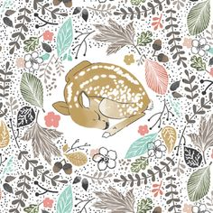 Hawthorne Threads - Autumn Fawn - Golden Slumbers in Harvest #AutumnFawnFabric