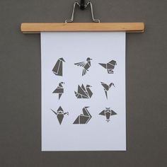 White origami bird A4 papercut by sarahlouisematthews on Etsy. , via Etsy.
