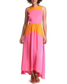 High Low Color Block Maxi Dress Women's Dresses from DJP OUTLET & more at DrJays. on Drjays.com