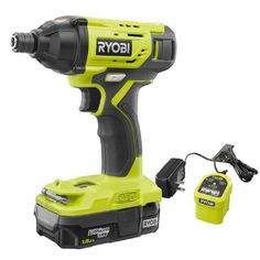 RYOBI P235AK1 ONE+ 18V Cordless 1/4 in. Impact Driver Kit $54.97 (20% off) @ Home Depot John Deere Garden Tractors, Driver Online, Diy Tops, Cordless Tools, Thing 1, Impact Driver, Portable Charger, Home Depot
