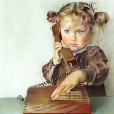 """Saatchi Online Artist: Anna Roberts; Pastel 2012 Drawing """"Chit..."""""""