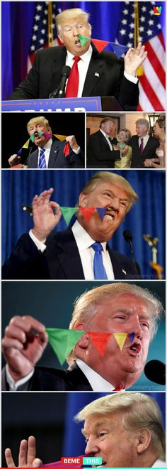 Donald Trump Nose Flags Will Make Your Day #donaldtrump #photos #photoshop #noseflags #funnypictures #bemethis