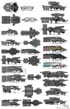 ArtStation - Alien Isolation_Ships&ship interior, Brad Wright