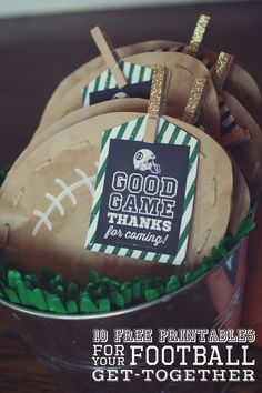 football party ideas for kids and adults. Love this super creative sports ideas…