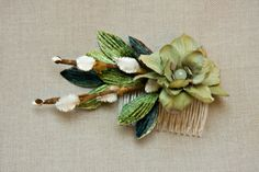 Woodland Romance Moonflower and Pussywillow by HomewardHandmade, $22.00