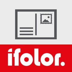 Postkarten App von ifolor :: Postkarte mit eigenen Fotos gestalten - Fotos aus verknüpften Profilen bei Dropbox, Facebook oder Instagram laden - Direktversand der Postkarte für 1,95 Euro pro Karte inklusive Porto - Foto als Briefmarke verwenden