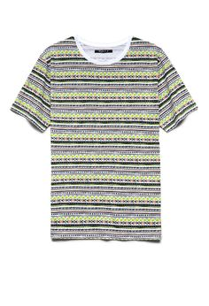 Tribal Print Cotton Tee | 21 MEN #F21Spring #21Men #Neon