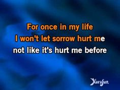 ▶ Karaoke For Once In My Life - Michael Bublé * - YouTube