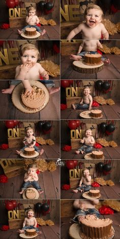 Lumberjack cake smash theme DFW newborn and baby photographer