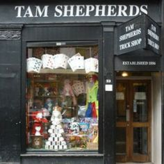 Tam Shepherd's Trick Shop on Queen St. is a family-run business for over 100 years. This is quite famous in Glasgow for its Hallowe'en costumes, magic tricks and practical jokes.