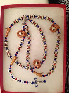 Custom Sports Themed Rosary BASEBALL Great by CUSTOMROSARIESbyFitz
